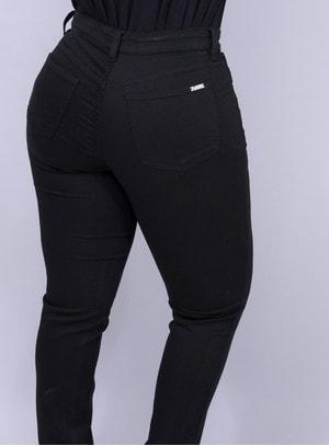 Calça em Jeans com Elastano Skinny Preta