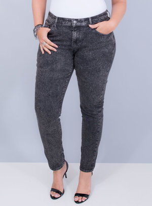 Calça Levi's Jeans Feminina 711 Skinny Manchada