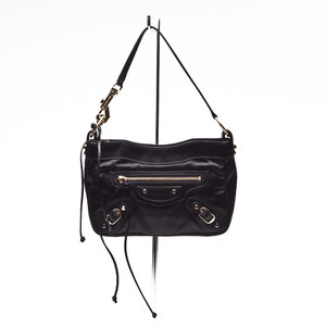 Mini bolsa Balenciaga em cetim preta