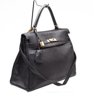 Bolsa Hermès Kelly 35 Clemence preta