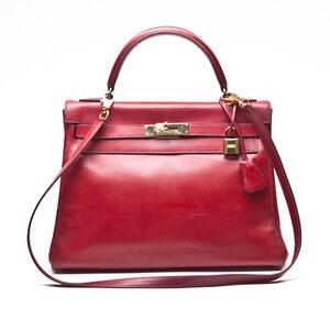 Bolsa Hermès Kelly 32 Swift Rouge