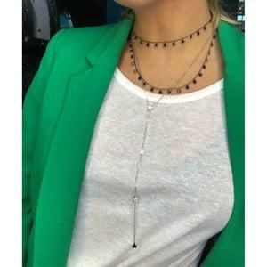 Colar Gravata Estrelinhas Prata925