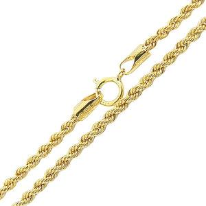 corrente modelo italiana trançada ouro 45 cm