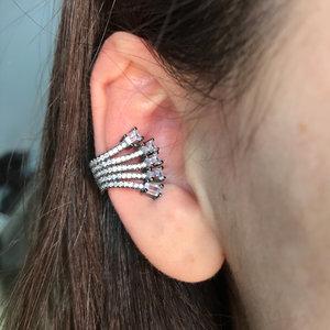 piercing raizes cristal rodio negro prata925