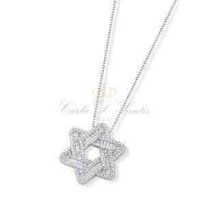 Colar Estrela de Davi Grande Prata 925