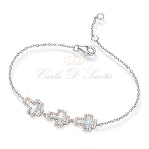 pulseira cruz madre perola prata925