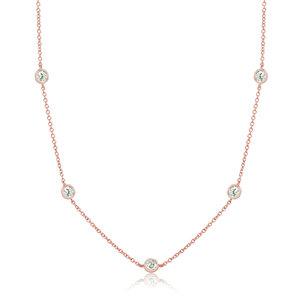 Colar Tiffy Rosé 80cm