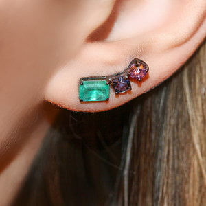 Ear Cuff Fancy Colors Negro