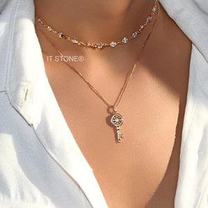 Choker Tiffy Back Necklace Dourado