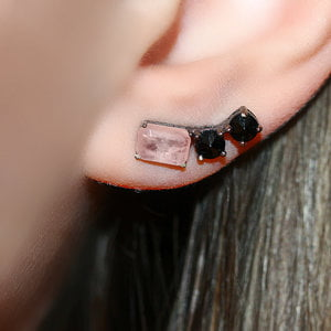 Ear Cuff Fancy Morganita Fusion Negro