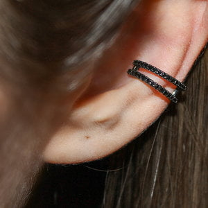 Piercing Falso Lines Cravejado Negro (unidade)
