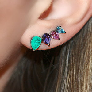 Ear Cuff Tarth Colors Negro