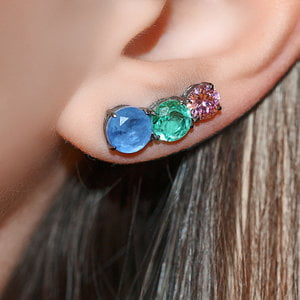 Ear Cuff Decreasing Colors Negro
