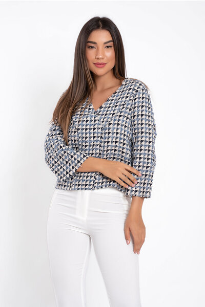 Blusa tweed mix