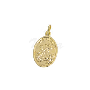Pingente Medalha São Jorge Ouro M