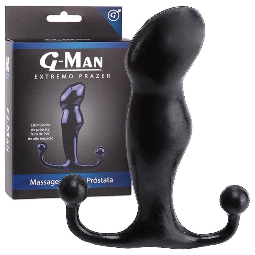 Massageador de Próstata G-Man Black 12 cm x 3 cm