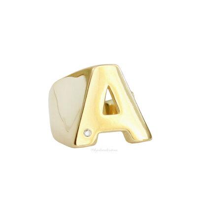 Anel Dedinho Letra Shape Ouro